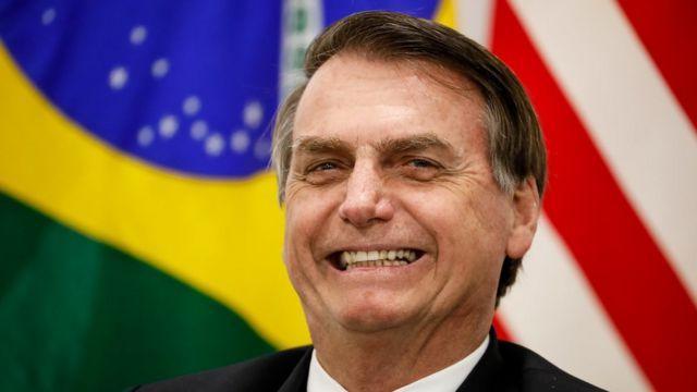 Bolsonaro durante encontro com Trump