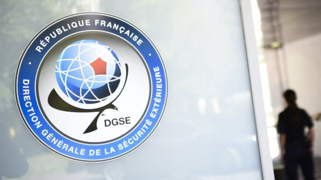 DGSE logo at HQ in Paris