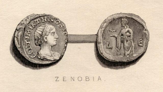 Monedas del siglo III con la imagen de Zenobia.
