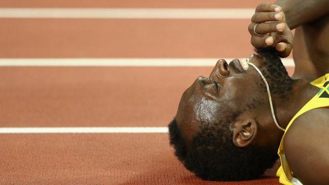 Usain Bolt en la última competencia de su carrera.