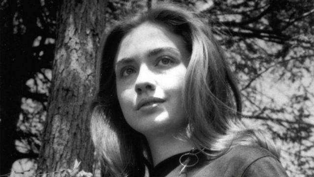 Hillary Clinton en su época de estudiante.
