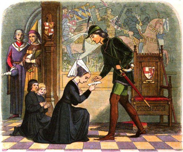 Встреча Элизабет Вудвил и Эдуарда IV.