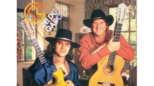 Capa do álbum O Rei do Gado 2, com foto de Almir Sater e Sérgio Reis
