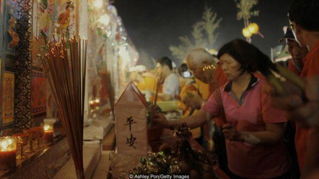 Festival dos fantasmas, em Taiwan