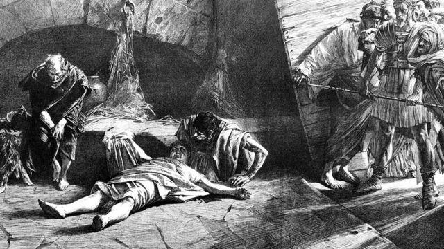 Imagem que ilustra o momento da morte de Nero