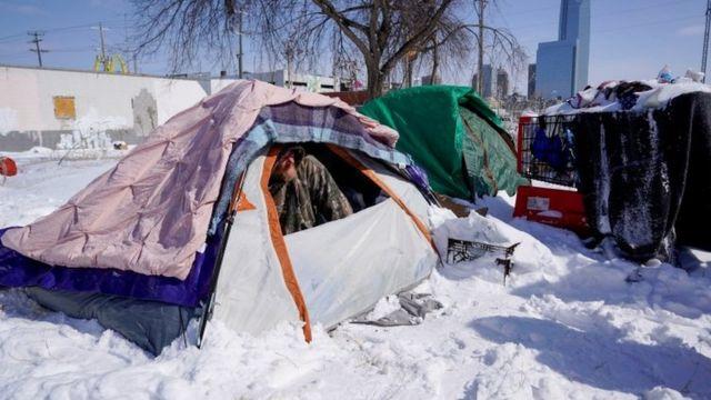 A homeless man in Oklahoma