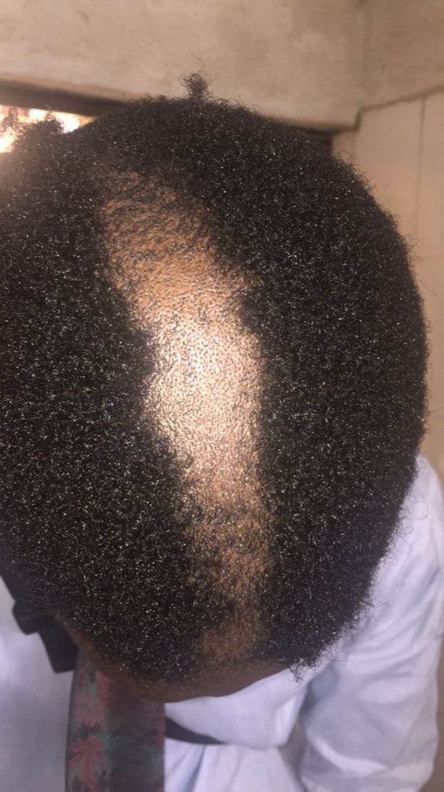 Na pictures like dis one comot from Covenant afta dem cut students hair anyhow