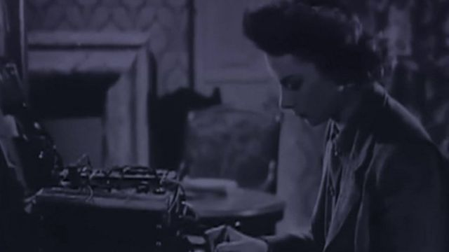 Woman secret agent at work