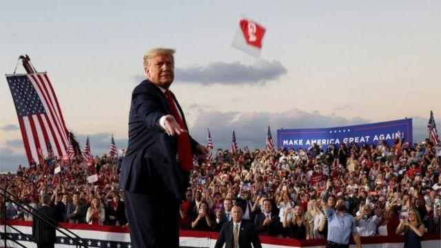 دونالد ترامپ روز دوشنبه در فلوریدا کمپین داشت