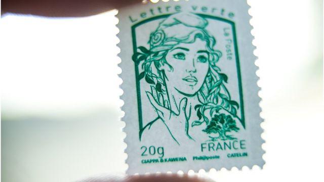 Estampillas con el rostro de Marianne.