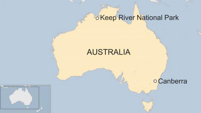 존슨과 눌기트가 조난 당한 호주 북부 킵리버 국립공원