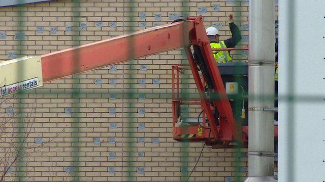 Workman at Edinburgh school