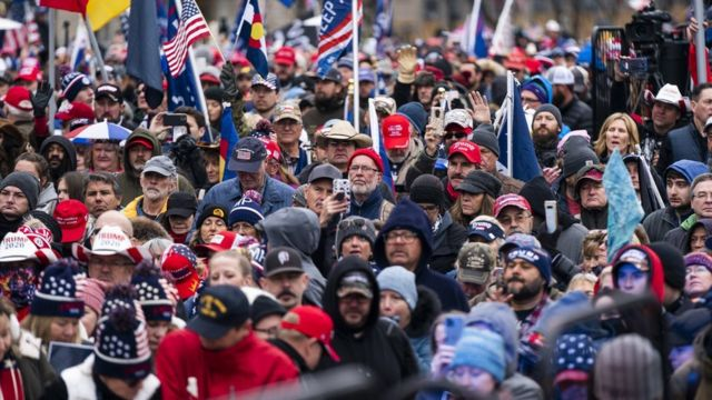 Pendukung Trump berkumpul di Freedom Plaza