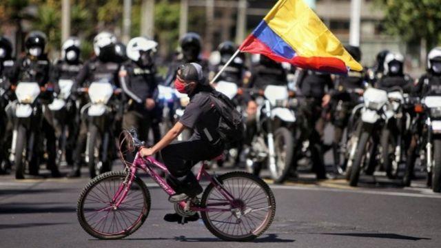 Los universitarios fueron protagonistas de la jornada de protestas en Quito.