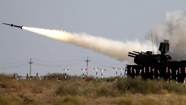 Russian Pantsir missile practice firing, 5 Aug 2017