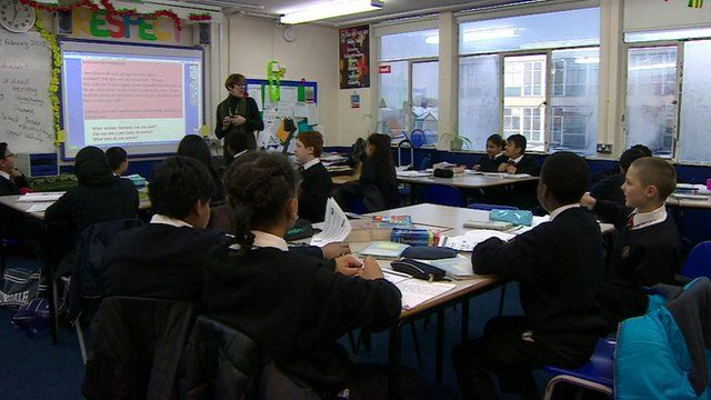 Children being taught in the classroom