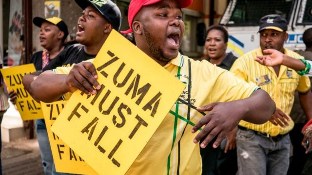Awọn oluwọde n pe fun ifiposilẹ Jacob Zuma