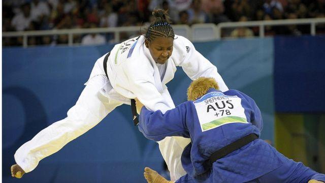 Idalys Ortiz in combat against Janelle Shepherd of Australia in Beijing 2008