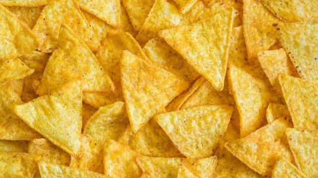 Tortilla chips on a plate