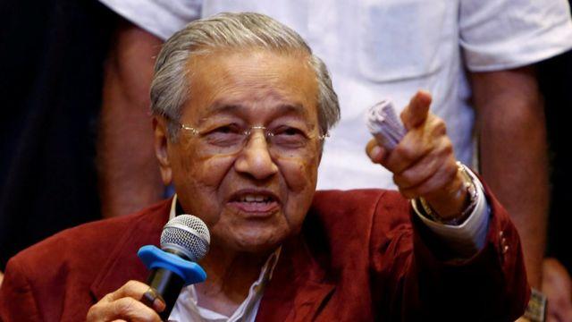 Rueda de prensa de Mahathir