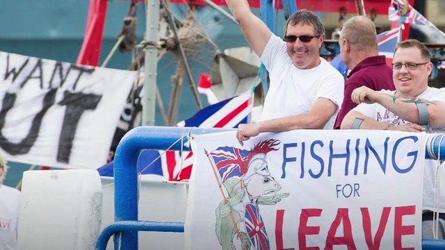 Fishermen on flotilla