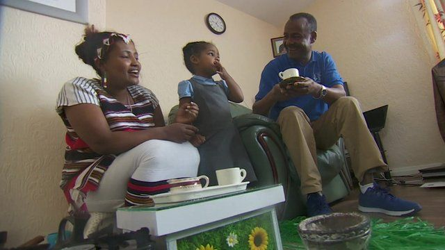 Family of settled refugees