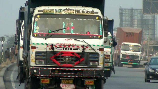 Haulage truck in India