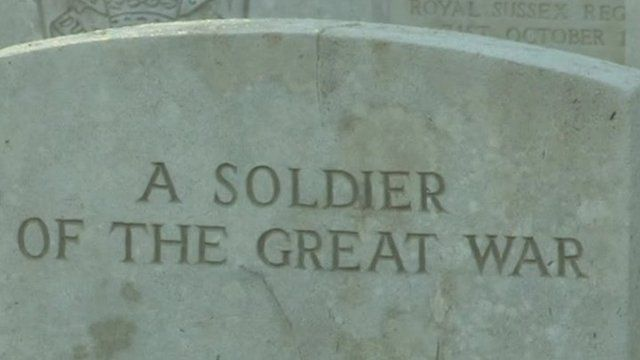 Headstone at the Somme