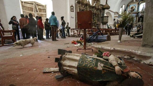 Iglesia afectada por el terremoto en Perú
