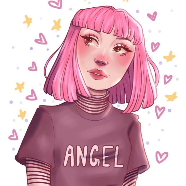 Caricatura de Bianca Devins