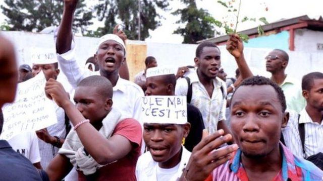Ces jeunes militants voulaient rencontrer le gouverneur du Nord-Kivu Julien Paluku pour lui faire part de leur campagne Bye Bye Kabila.
