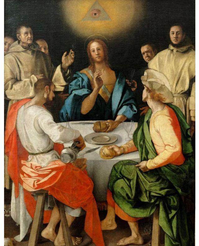 """""""Cena en Emaús"""", pintado por el renacentista Portormo en 1525"""