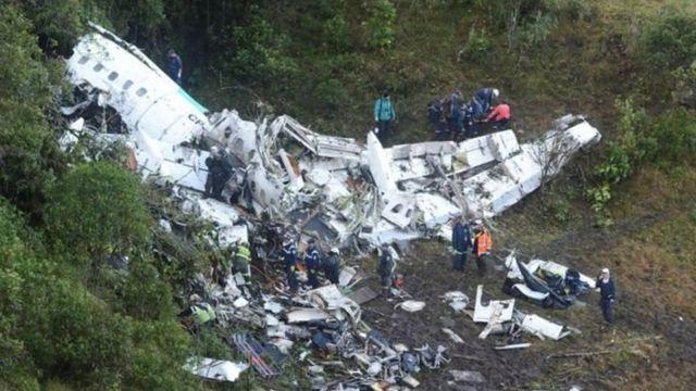 कोलिंबिया में विमान हादसा