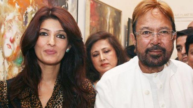 راجیش کھنہ اپنی بیٹی ٹوئنکل کھنہ کے ساتھ
