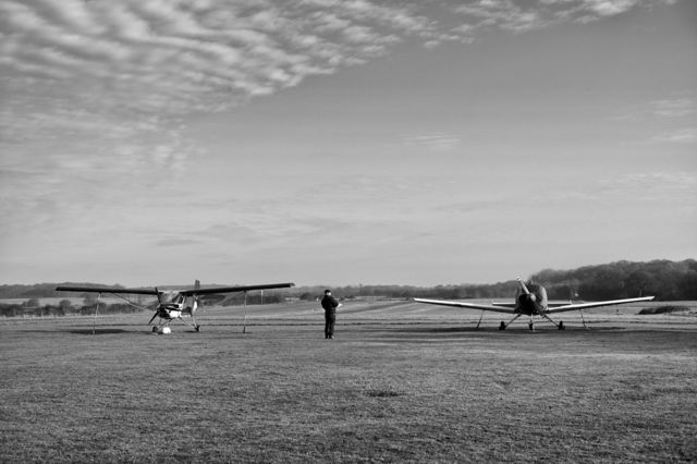 Artistic tribute to D-Day airfield