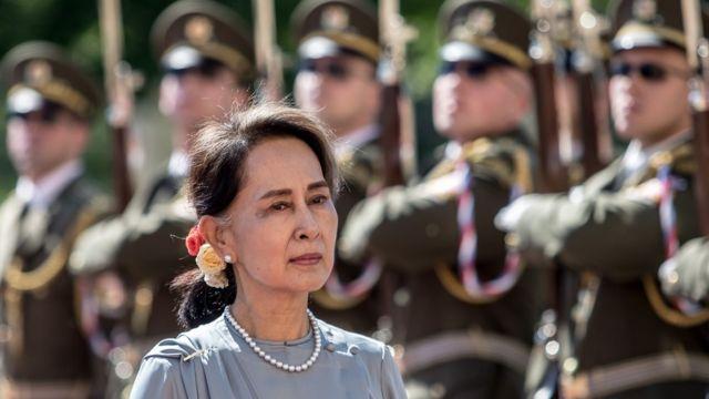 میانمار، مارشل لا نافذ، آنگ سان سوچی