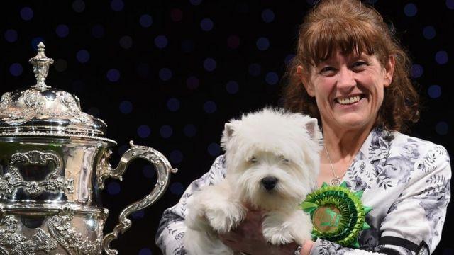 Devon with owner Marie Burns