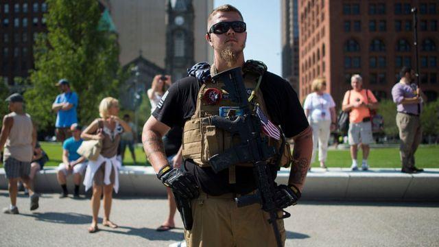 Membro da milícia de Ohio
