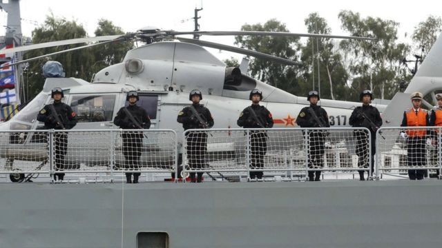 Tàu chiến Trung Quốc lần đầu vào Biển Baltic