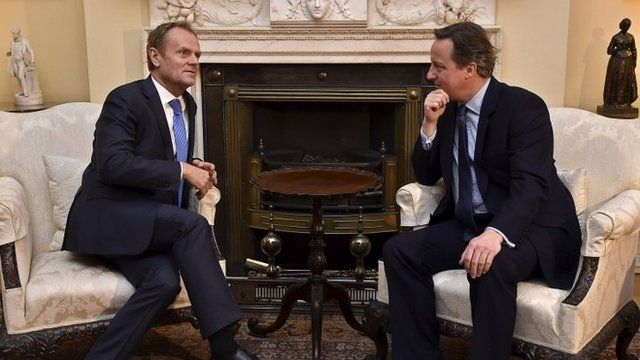 David Cameron meets with Donald Tusk at Downing Street