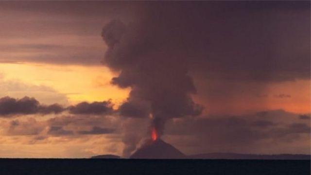 This image of Anak Krakatoa was taken by Oystein Lund Andersen on Saturday