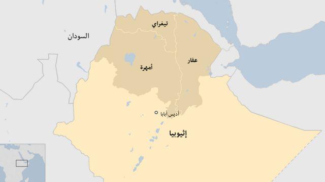 خارطة إثيوبيا