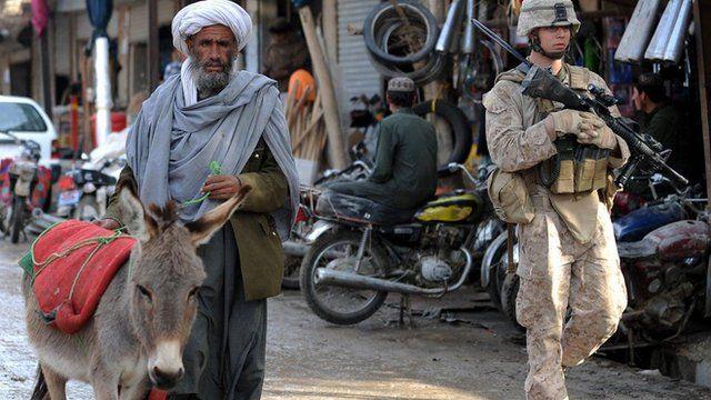 Soldado ocidental no Afeganistão