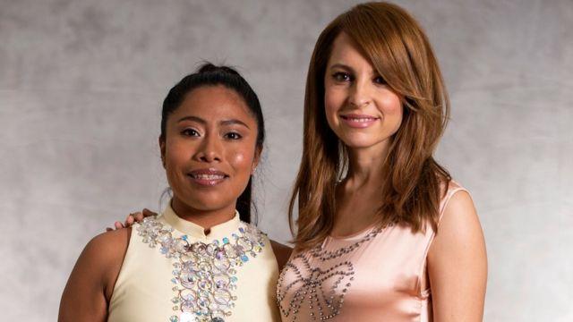 Glumice Jalica Aparasio (levo) i Marina De Tvira iz filma Roma obe su nominovane za nagradu