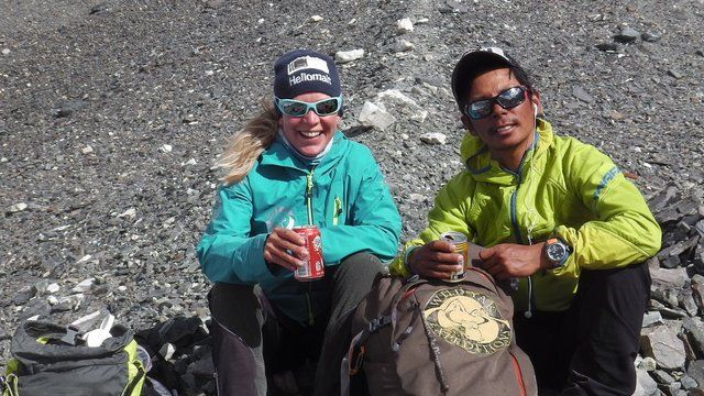 Andrea Ursina Zimmerman and Norbu Sherpa