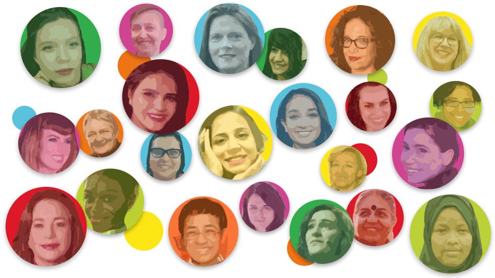 Imagen de algunas de las mujeres que aparecen en 100 mujeres de la BBC