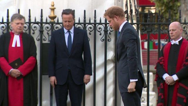 David Cameron and Prince Harry