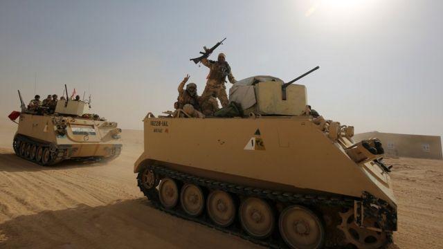 El Kaim'deki Irak güçleri