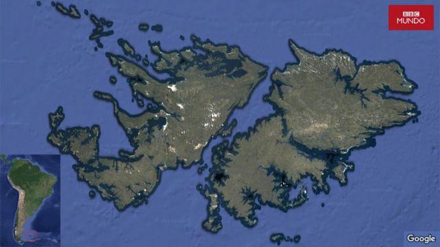 Mapa islas Malvinas / Falklands.
