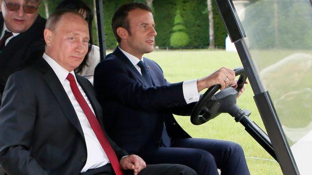 Первая встреча Путина и Макрона состоялась в Версале